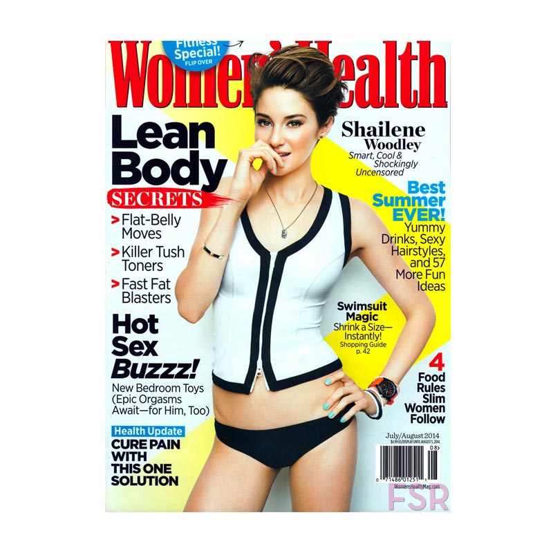 Used on Shailene Woodley in Women's Health Mag.